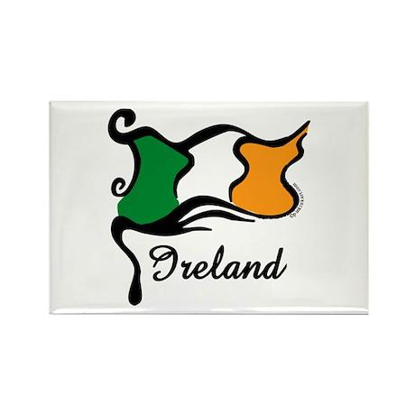 Funky Irish Flag Rectangle Magnet