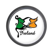 Funky Irish Flag Wall Clock