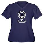 Badge - Dalziel Women's Plus Size V-Neck Dark T-Sh