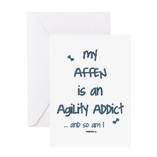 Affen Agility Addict Greeting Card