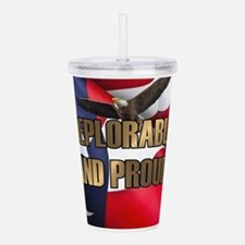 DEPLORABLE AND PROUD Acrylic Double-wall Tumbler