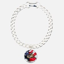 DEPLORABLE AND PROUD Charm Bracelet, One Charm