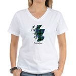 Map - Davidson Women's V-Neck T-Shirt