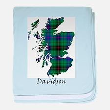 Map - Davidson baby blanket