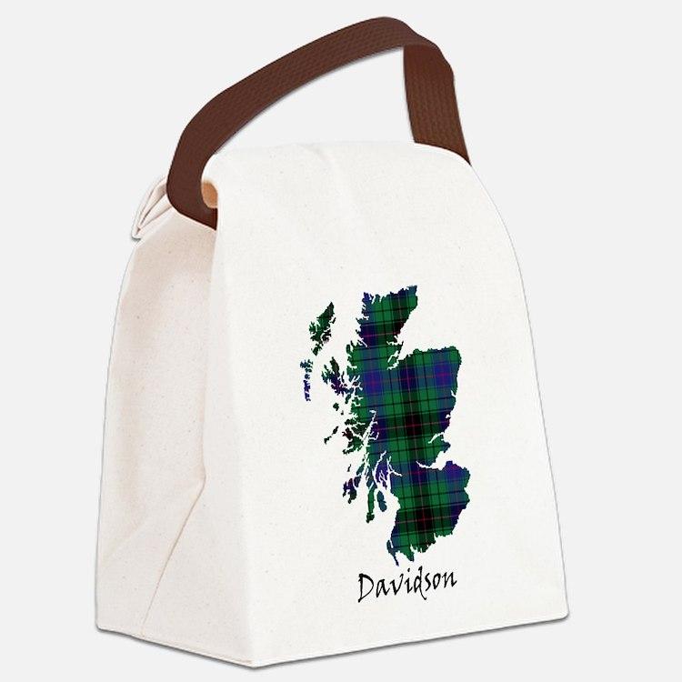 Map - Davidson Canvas Lunch Bag