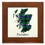 Map - Davidson Framed Tile