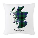 Map - Davidson Woven Throw Pillow
