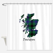 Map - Davidson Shower Curtain