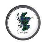 Map - Davidson Wall Clock