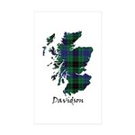 Map - Davidson Sticker (Rectangle 10 pk)