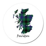 Map - Davidson Round Car Magnet