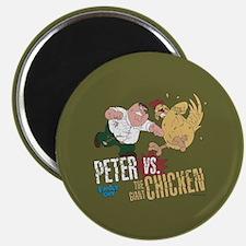 Family Guy Peter vs. The Giant Chicken Magnet