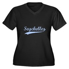 Vintage Seychelles Retro Women's Plus Size V-Neck
