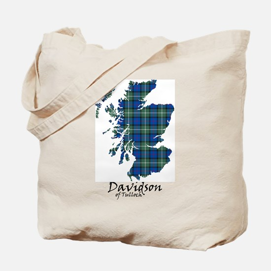 Map - Davidson of Tulloch Tote Bag