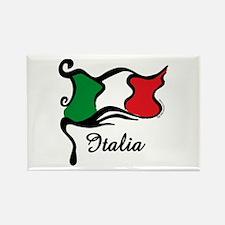 Funky Italian Flag Rectangle Magnet