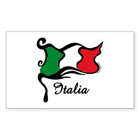 Funky Italian Flag Rectangle Sticker