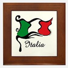 Funky Italian Flag Framed Tile