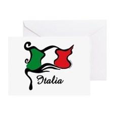 Funky Italian Flag Greeting Card