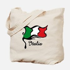 Funky Italian Flag Tote Bag