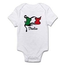 Funky Italian Flag Infant Bodysuit