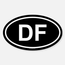 DF Oval Decal