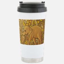 Funny Yellow elephant Travel Mug