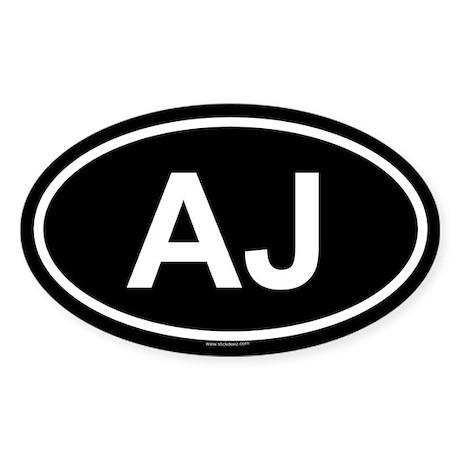 AJ Oval Sticker