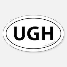 UGH Auto Sticker -White (Oval)