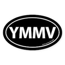 YMMV Auto Sticker -Black (Oval)