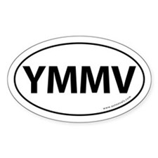 YMMV Auto Sticker -White (Oval)