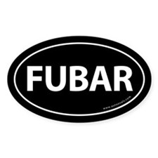 FUBAR Auto Sticker -Black (Oval)