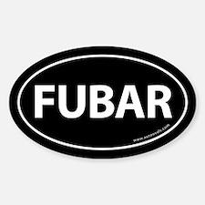 FUBAR Auto Sticker -Black (Oval)