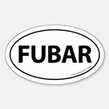 FUBAR Auto Sticker -White (Oval)