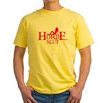 HORDE HUMOR FUNNY HORDE GIRL  Yellow T-Shirt