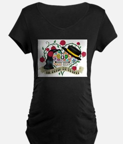Day Of The Dead Wedding Maternity T-Shirt