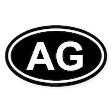 AG Oval Decal