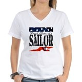 U.s navy proud sister Womens V-Neck T-shirts