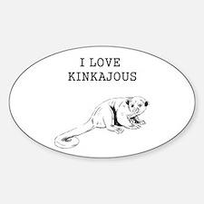 I Love Kinkajous Decal
