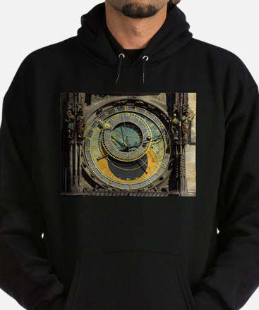 Prague Astronomical Clock Tower in O Hoodie (dark)