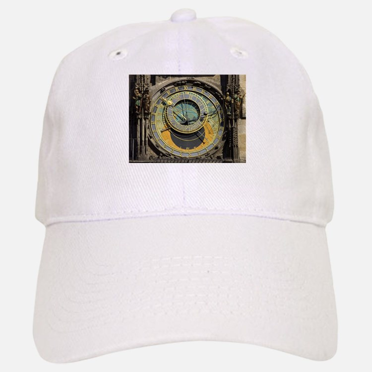 Prague Astronomical Clock Tower in Old Town Sq Baseball Baseball Cap