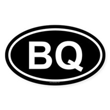 BQ Oval Decal