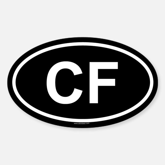 CF Oval Decal