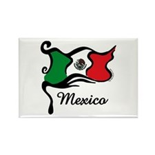 Funky Mexican Flag Rectangle Magnet