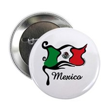 """Funky Mexican Flag 2.25"""" Button"""