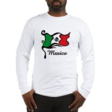 Funky Mexican Flag Long Sleeve T-Shirt