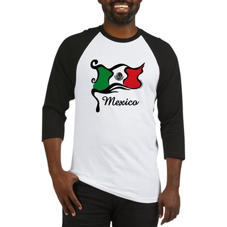 Funky Mexican Flag Baseball Jersey