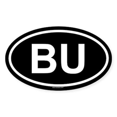 BU Oval Sticker