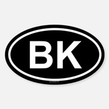 BK Oval Decal