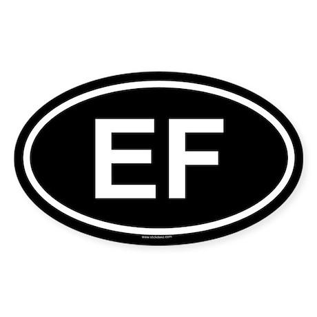 EF Oval Sticker