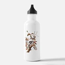 Downy Woodpecker Vintage Audubon Art Water Bottle